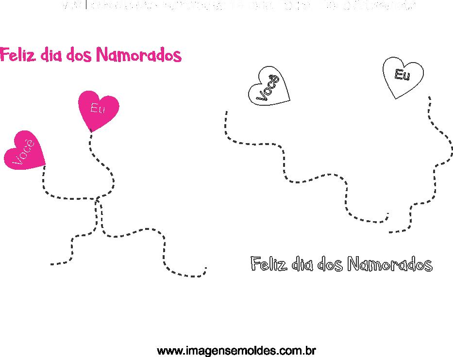Molde de dia dos Namorados 14 para Eva, Feltro e Artesanato, Valentinstag Vorlage, plantilla de san valentín, valentine's day template