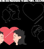 Molde Dia dos Namorados 19 para Eva, Feltro e Artesanato