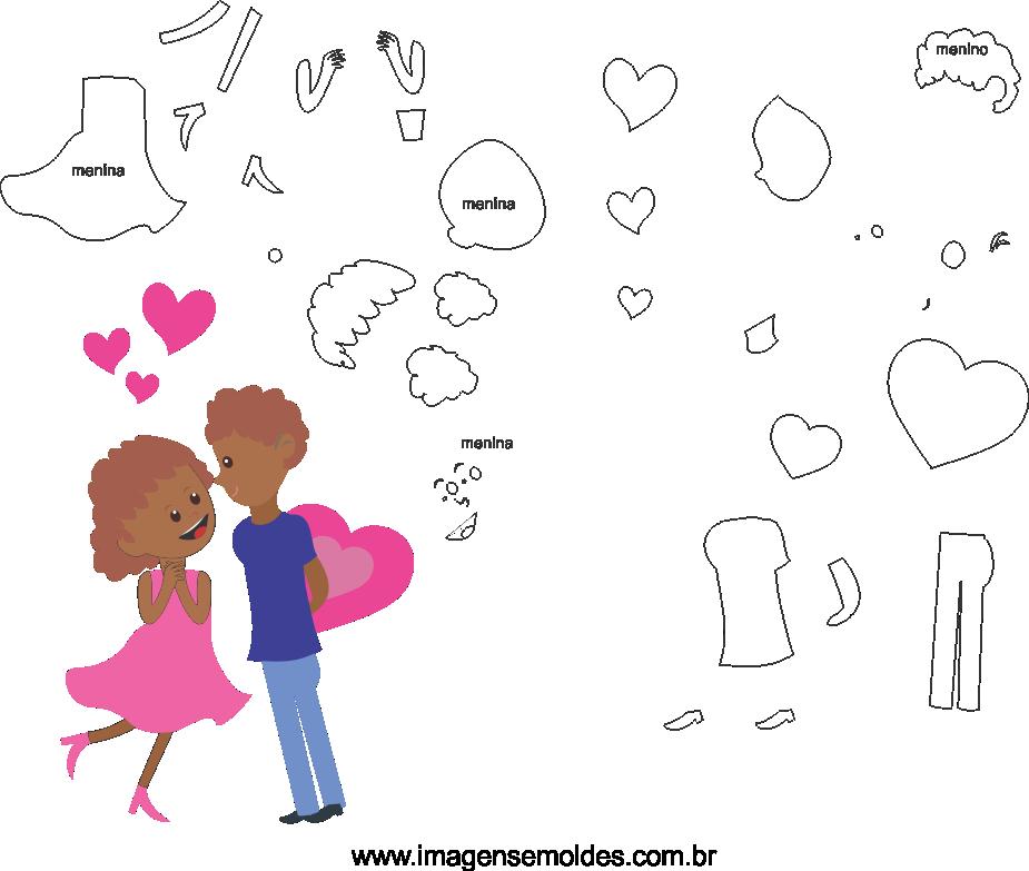 Molde de dia dos Namorados 2 para Eva, Feltro e Artesanato, Valentinstag Vorlage, plantilla de san valentín, valentine's day template