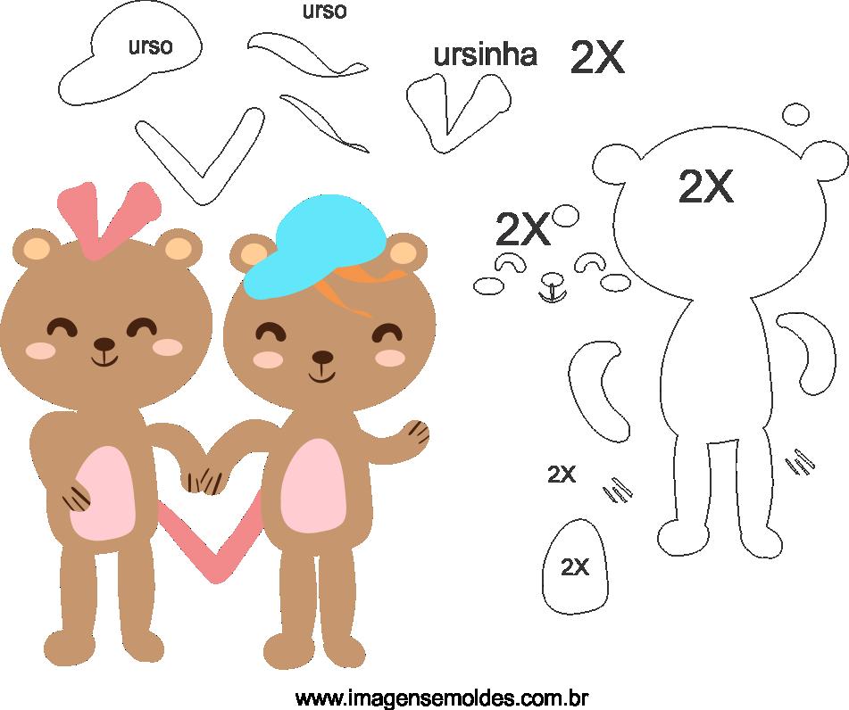 Molde de dia dos Namorados para Feltro, Eva, e Artesanato, Valentinstag Vorlage, plantilla de san valentín, valentine's day template