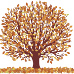 Árvores – Árvore Folhas Amarelas 2 PNG