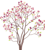 Árvores - Árvore Folhas Rosa 2