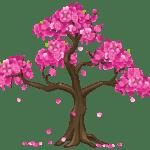 Árvores – Árvore Folhas Rosa PNG