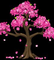 Árvores - Árvore Folhas Rosa