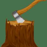 Árvores – Tronco com machado PNG