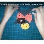 ARTESANATO PAP EVA- Como fazer Porta caneca Joaninha Molde Grátis