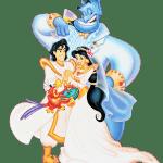 Aladdin – Aladdin, Jasmine e Gênio PNG