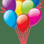 Balões – Conjunto de Balões Coloridos 17 PNG