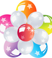 Balões - Conjunto de Balões Coloridos Flor