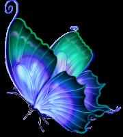 Borboletas - Borboleta Azul 3