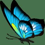 Borboletas – Borboleta Azul e Preta PNG