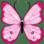 Borboletas – Borboleta Rosa PNG