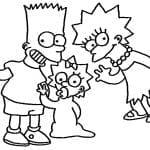 Desenhos Infantis para colorir dos Os Simpsons