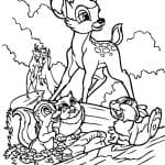 Desenhos para colorir Bambi