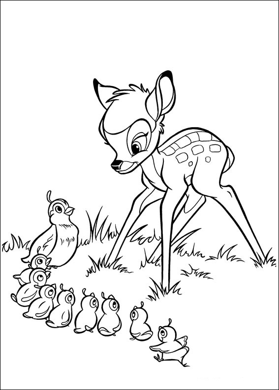Desenhos Infantis Para Colorir Bambi