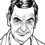 Desenhos para colorir do Mr. Bean