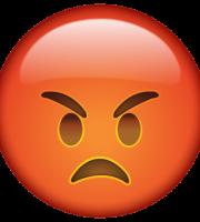 Emoji Bravo PNG Vermelho