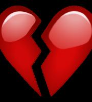 Emoji Coração partido