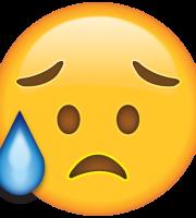 Emoji Desapontado e Aliviado