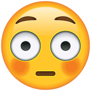 Emoji Rosto Corado