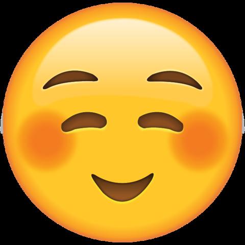 Emoji Sorriso Tímido PNG Imagens e Moldes.com.br Emoticon