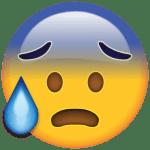 Emoji Suando Frio PNG