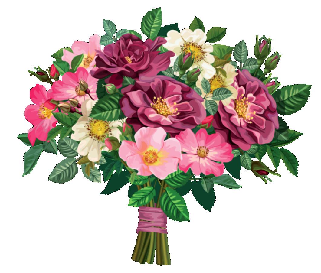 Flores Buque De Flores Coloridas Png Imagens E Moldes Com Br
