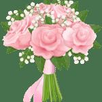 Flores – Buque de Rosa cor de Rosa PNG