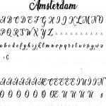 Fonte Amsterdam para Baixar Grátis