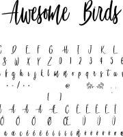 Fonte Awesome Birds para Baixar Grátis