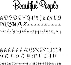 Fonte Beautiful People para Baixar Grátis