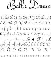 Fonte Bella Donna para Baixar Grátis