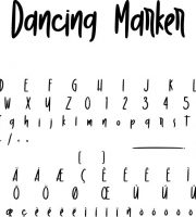 Fonte Dancing Marker para Baixar Grátis