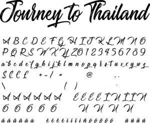 Fonte Journey to Thailand para Baixar Grátis