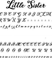 Fonte Little Sister para Baixar Grátis
