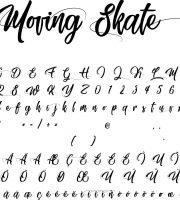 Fonte Moving Skate para Baixar Grátis