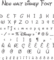 Fonte New Walt Disney Font