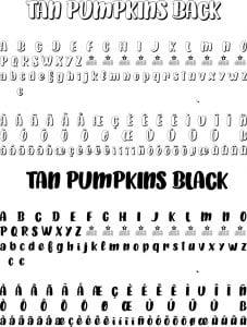 Fonte Tan Pumpkins para Baixar Grátis