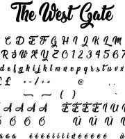 Fonte The West Gate para Baixar Grátis