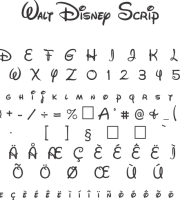 Fonte Walt Disney Scrip