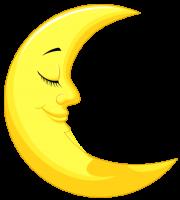 Imagem Lua - Lua Crescente Dormindo 2