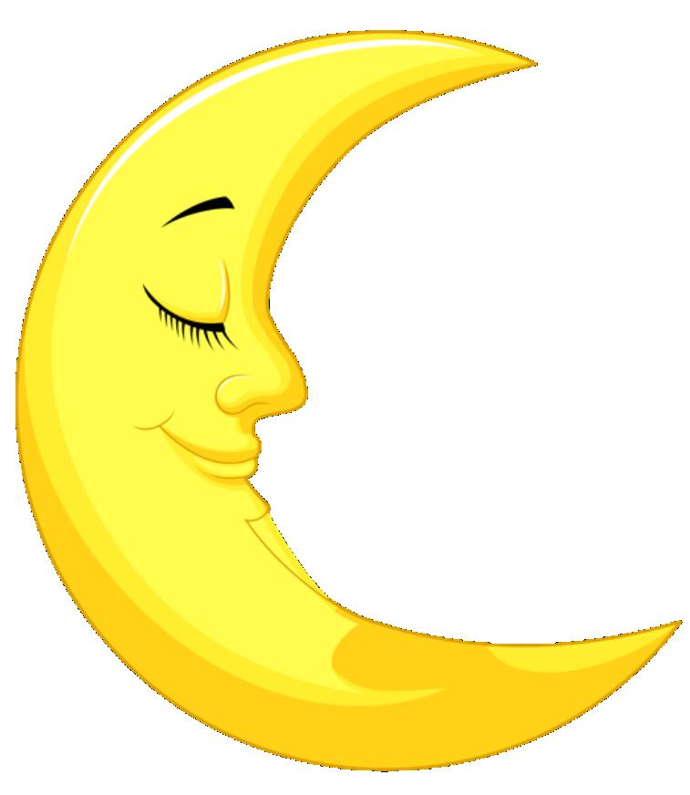 Imagem Lua Lua Crescente Dormindo 2 Png Imagens E Moldes Com Br