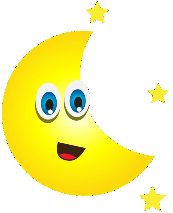 Imagem Lua Lua Crescente Com Estrelas 2 Png Imagens E Moldes Com Br