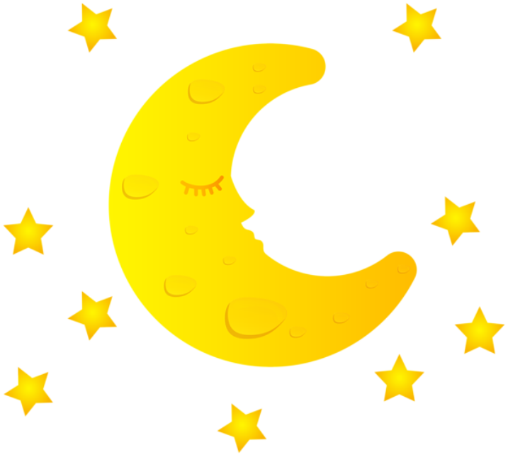 Imagem Lua Lua Crescente Com Estrelas Png Imagens E Moldes Com Br