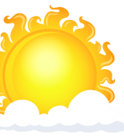 Imagem Sol - Sol entre Nuvens 3