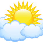 Imagem Sol – Sol entre Nuvens PNG