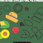 Molde de Festa Junina 17 para Feltro, Eva e Artesanato