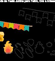 Molde de Festa Junina 18 para Eva, feltro e Artesanato