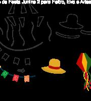 Molde de Festa Junina 2 para feltro, Eva e Artesanato