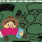 Molde de Festa Junina 3 para Eva, Feltro e Artesanato
